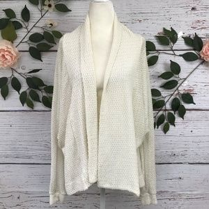 Ecote Size Small Ivory Knit Open Dolman Cardigan